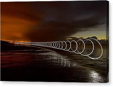 Light Play On Saunton Sands Canvas Print by Pete Hemington