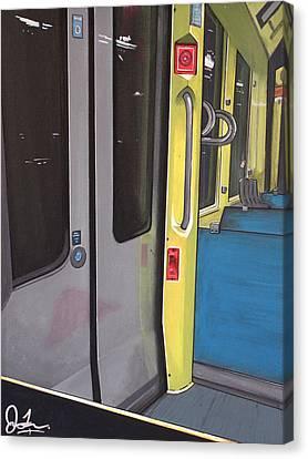 Light Rail Canvas Print by Jude Labuszewski