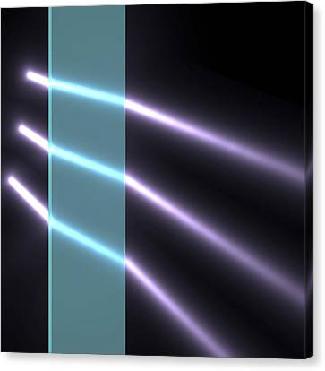 Light Refraction In Glass Block Canvas Print