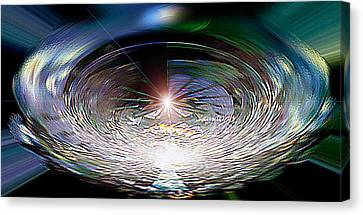 Light Roulette  V3 Canvas Print by Rebecca Phillips