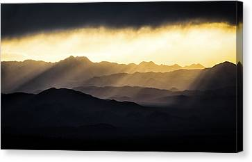 Canvas Print featuring the photograph Light Shines In by Brian Bonham