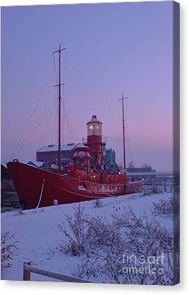 Canvas Print featuring the photograph Light Ship by John Williams