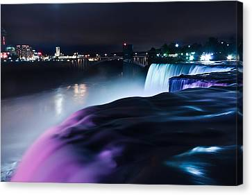 Canvas Print featuring the photograph Light Show by Mihai Andritoiu