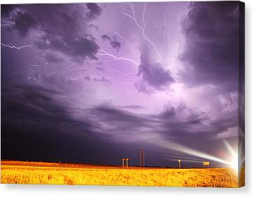 Light Show Over Yorkton Canvas Print