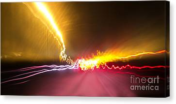 Light Show To Guayaquil Canvas Print by Al Bourassa