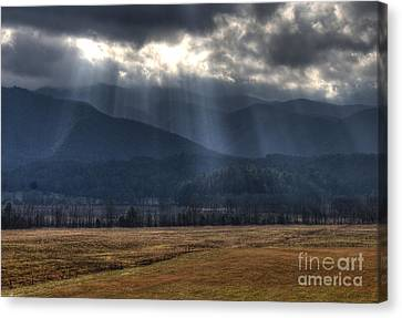 Light Shower Canvas Print by Douglas Stucky