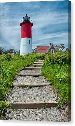 Nauset Beach Canvas Print - Light Steps by Michael Blanchette