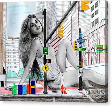 Light Street Canvas Print by Gil Fong