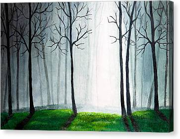 Light Through The Forest Canvas Print by Nirdesha Munasinghe