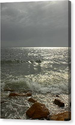 Light Through The Storm Canvas Print by Amazing Jules