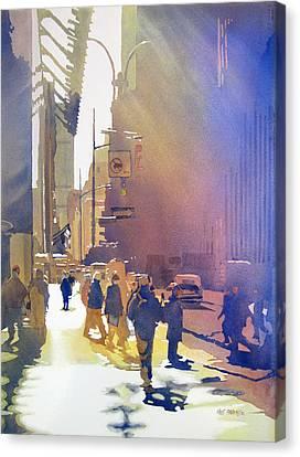 Light Traffic Canvas Print by Kris Parins