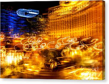 Light Trails Abstract 2 Canvas Print