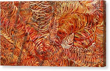 Canvas Print featuring the mixed media Light Twist by Sami Tiainen