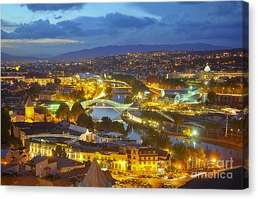 Tbilisi Canvas Print - Light View To Old Town Of Tbilisi by Andrey Tovstyzhenko