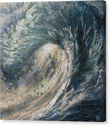 Canvas Print featuring the painting Light Wave  by Mia Tavonatti