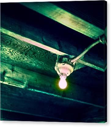 Lightbulb And Cobwebs Canvas Print