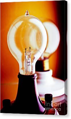 Old Light Bulb Canvas Print - Vintage Light Bulbs by Colleen Kammerer