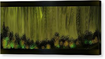 Lighted Path Canvas Print by Len YewHeng