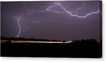 Canvas Print featuring the photograph Lightening Bolts by Charles Beeler