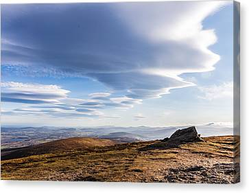 Lightfall On Djouce Mountain Summit Canvas Print