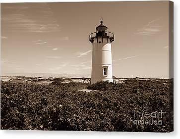 Lighthause From Race Point Canvas Print