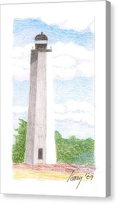 Canvas Print featuring the drawing Lighthouse 1 by Rod Ismay