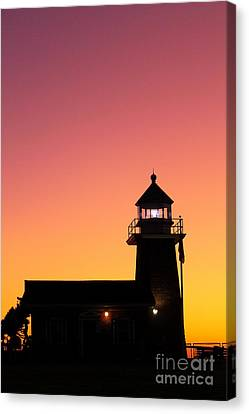 Canvas Print featuring the photograph Lighthouse 1 by Theresa Ramos-DuVon