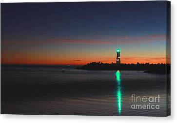 Canvas Print featuring the photograph Lighthouse 6 by Theresa Ramos-DuVon