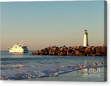 Canvas Print featuring the photograph Lighthouse 8 by Theresa Ramos-DuVon