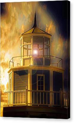Beach Canvas Print featuring the photograph Lighthouse  by Aaron Berg