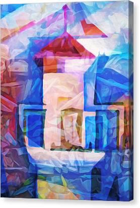 Coastguard Canvas Print - Lighthouse Abstraction by Lutz Baar