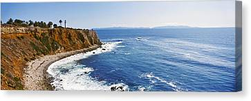 Lighthouse At A Coast, Point Vicente Canvas Print