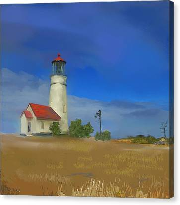 Lighthouse At Cape Blanco Canvas Print by Dale Stillman