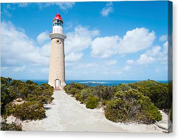 Lighthouse At Coast, Cape Du Couedic Canvas Print by Panoramic Images