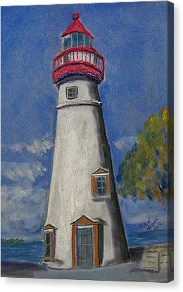 Lighthouse At Marblehead Canvas Print by Richard Goohs