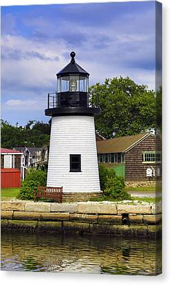 Lighthouse At Mystic Seaport Canvas Print
