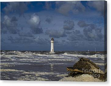 lighthouse at New Brighton Canvas Print