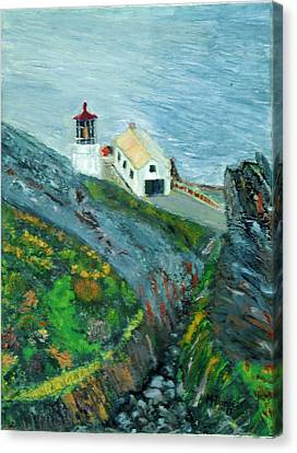 Lighthouse At Point Reyes California Canvas Print by Michael Daniels
