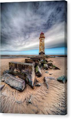Navigation Canvas Print - Lighthouse At Talacre  by Adrian Evans