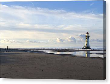 Lighthouse At Talacre Canvas Print by Spikey Mouse Photography
