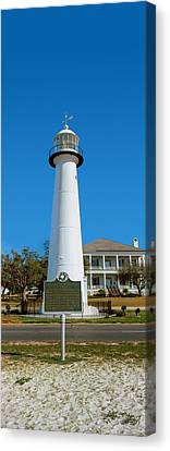 Lighthouse At The Roadside, Biloxi Canvas Print by Panoramic Images