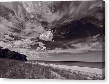 Lighthouse Beach Evanston Il Canvas Print by Steve Gadomski