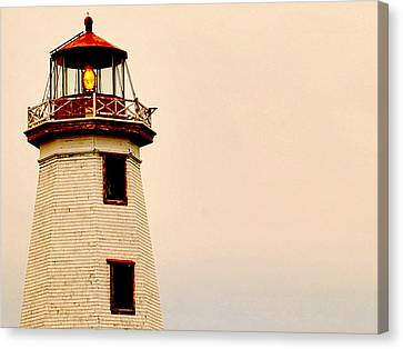 Lighthouse Beam Canvas Print by Steve Archbold