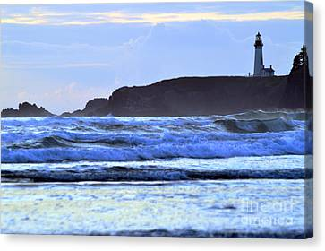 Lighthouse Blues Canvas Print by Sheldon Blackwell
