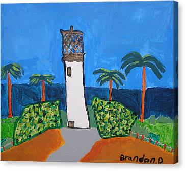 Lighthouse Canvas Print by Artists With Autism Inc