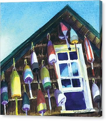 Lighthouse Buoys Maine Canvas Print by Susan Herbst