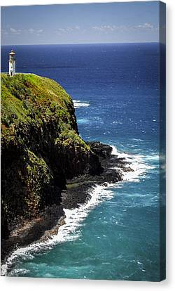 Canvas Print featuring the photograph Lighthouse By The Pacific by Debbie Karnes