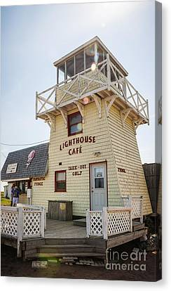 Lighthouse Cafe In North Rustico Canvas Print by Elena Elisseeva