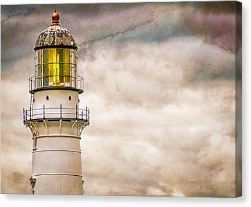 Lighthouse Cape Elizabeth Maine Canvas Print by Bob Orsillo