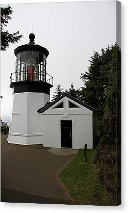 Lighthouse Cape Meares Canvas Print by Christiane Schulze Art And Photography